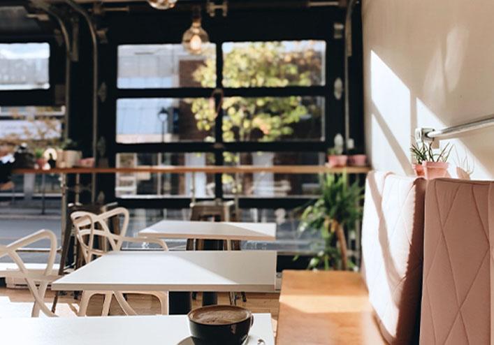 Interior shot of restaurant in Westboro