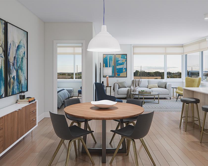 Image of Richardson Ridge rental dining and living space